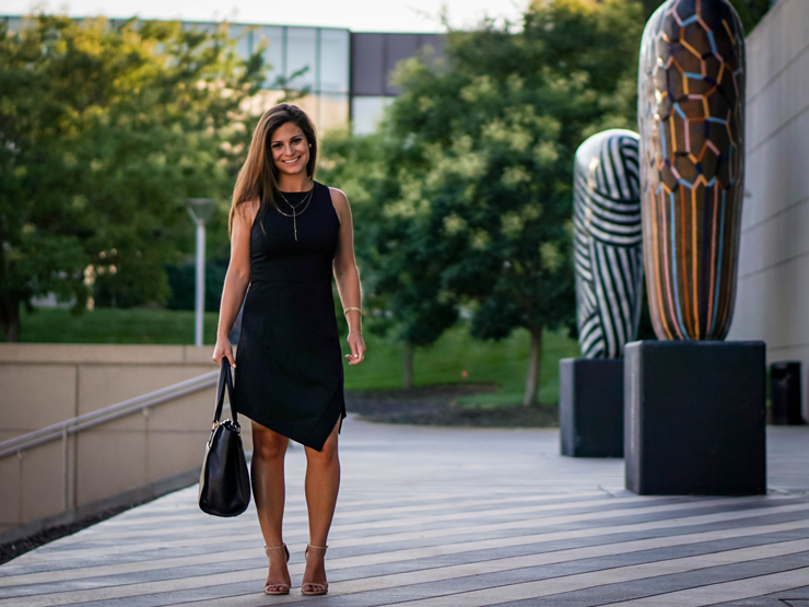 petite black summer dress
