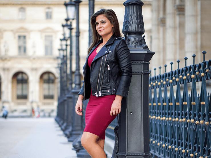 petiteinparis leather jacket
