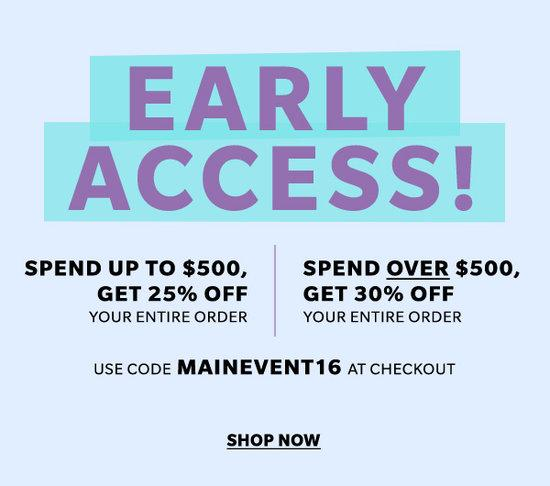 shopbop early access sale