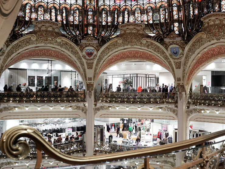 interior of Galleries Lafayette