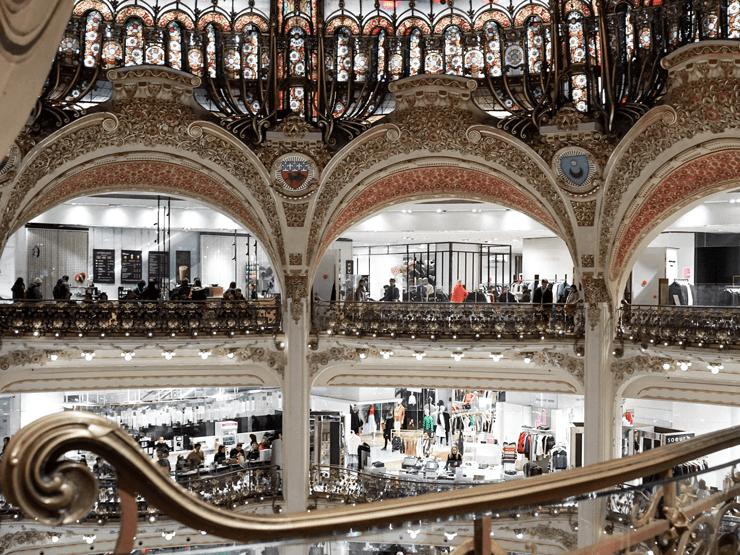 interior of Galleries Lafayette