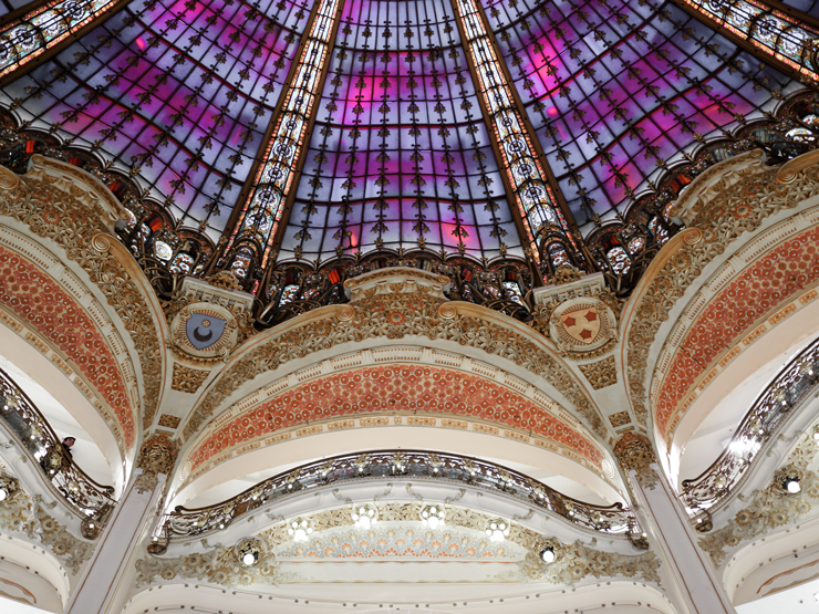 ceiling of galleries lafayette