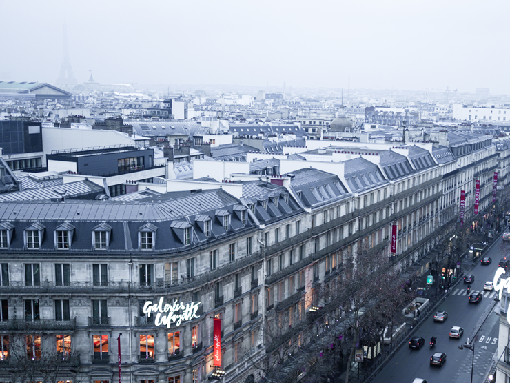 rooftop view of Galeries Lafayette