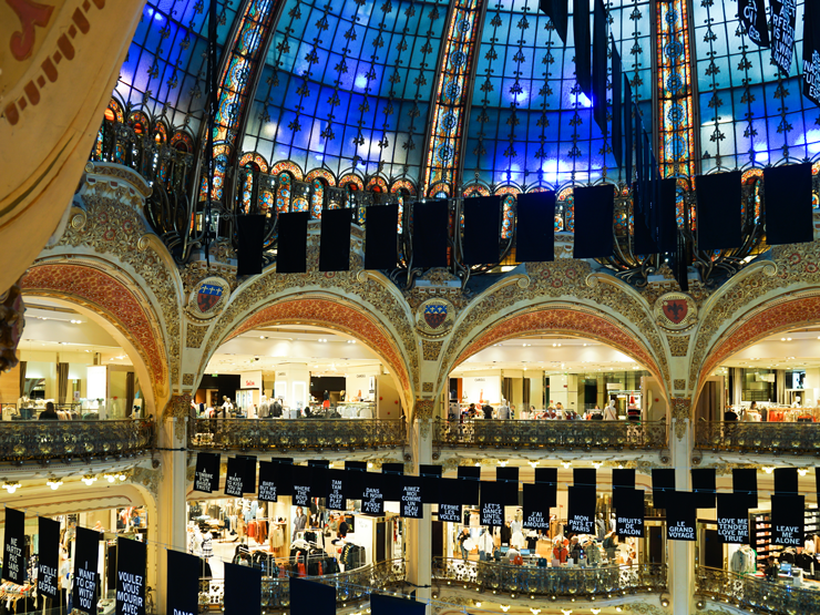 Galeries Lafayette inside view