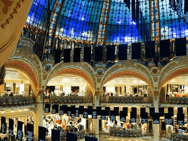 Galeries Lafayette inside view