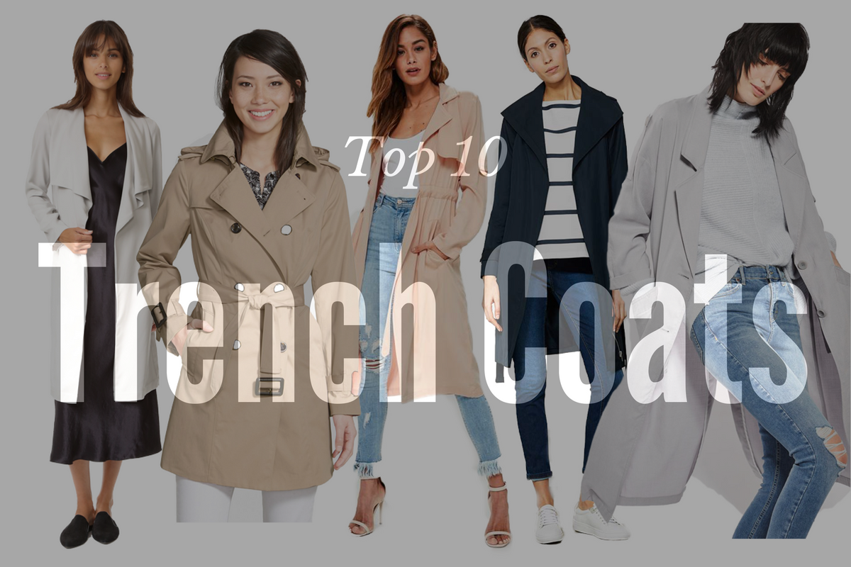 top 10 trench coats
