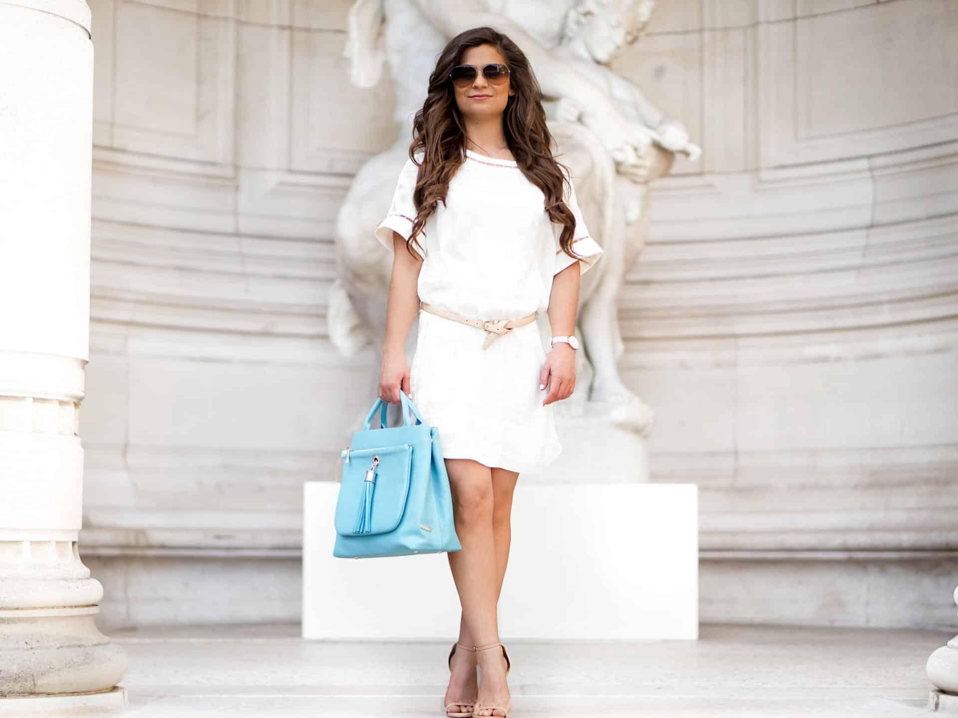 vva blue handbag