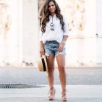 classic white button down for petites