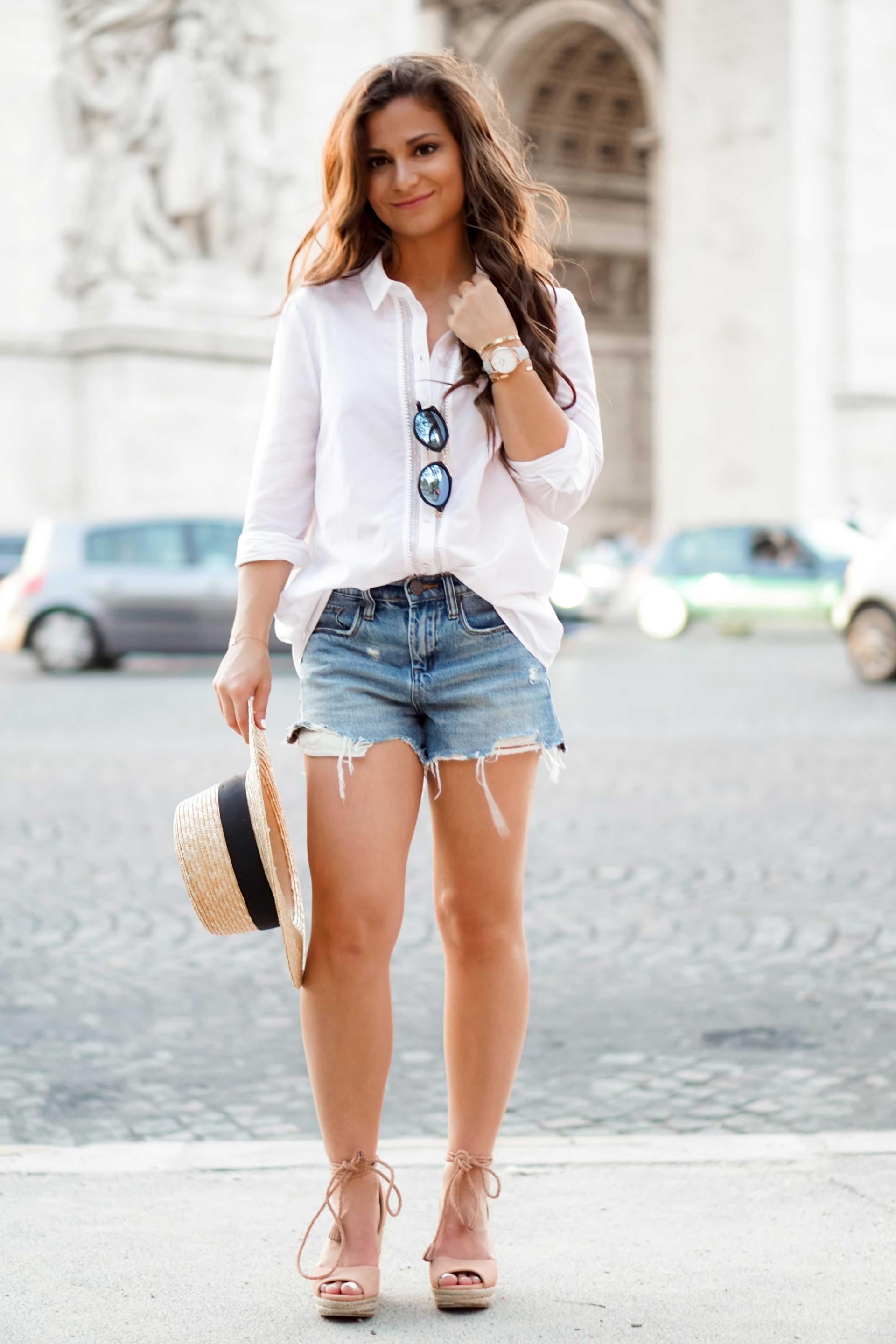 white button down