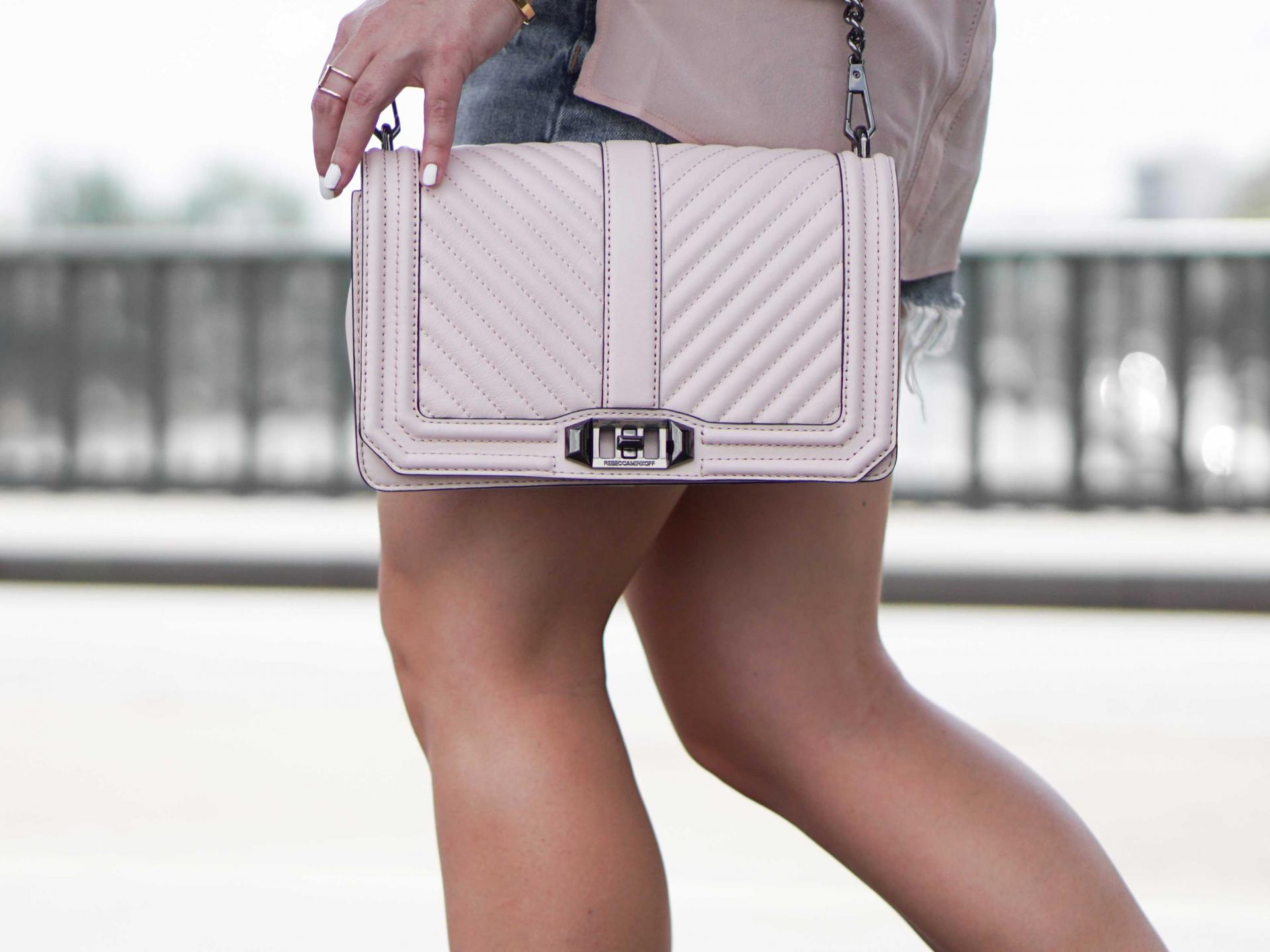 rebecca minkoff light pink purse