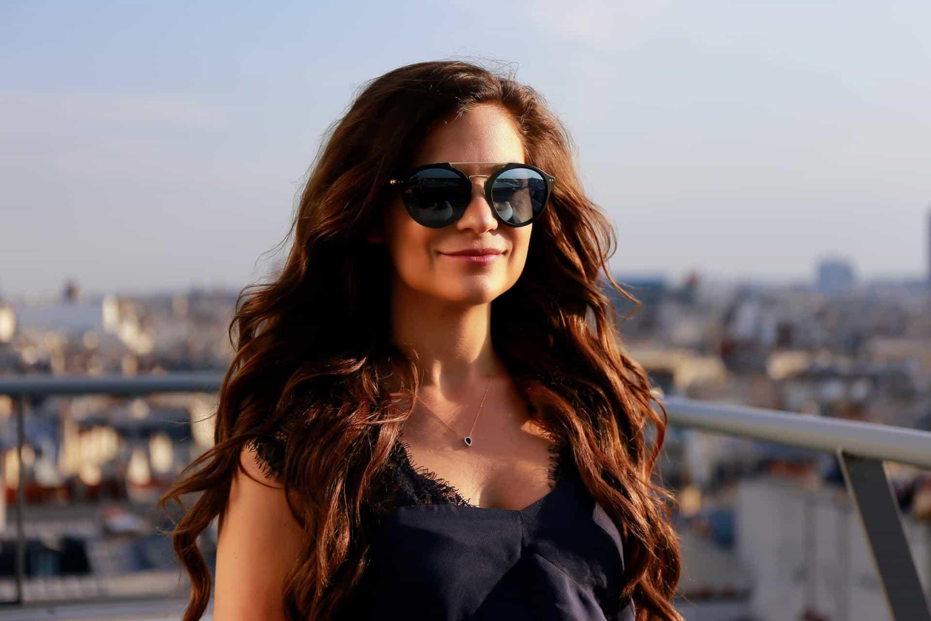 Diane Coletta rooftops in paris photoshoot