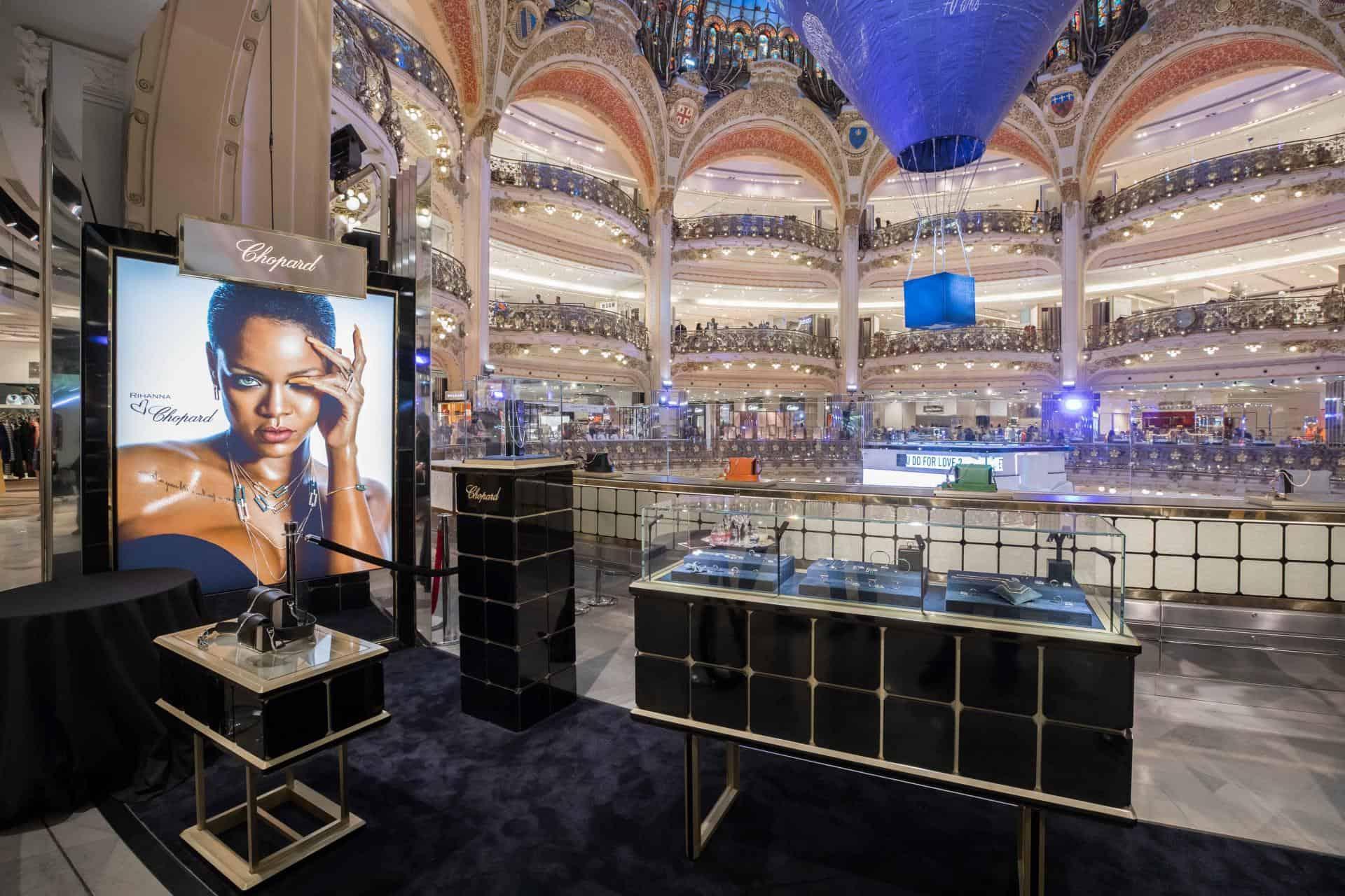 Galeries Lafayette chopard rihanna