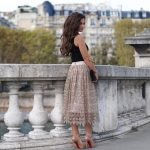Alice and Olivia ALMIRA MIDLENGTH PARTY SKIRT