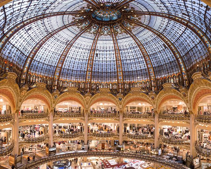 What does Galeries Lafayette looks like inside