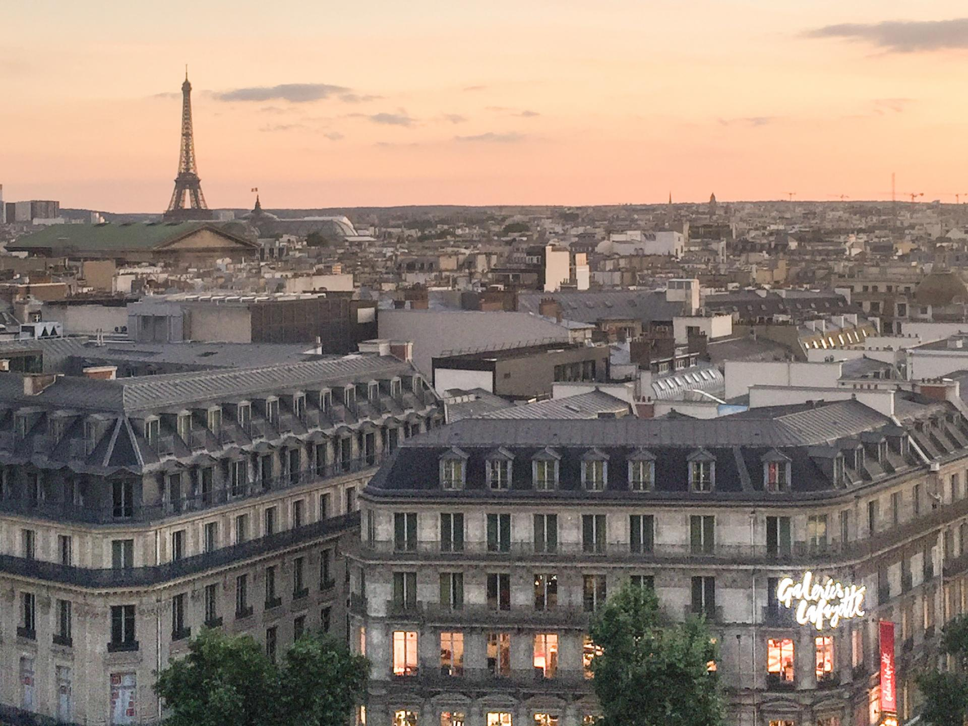 rooftop view at galeries lafayette
