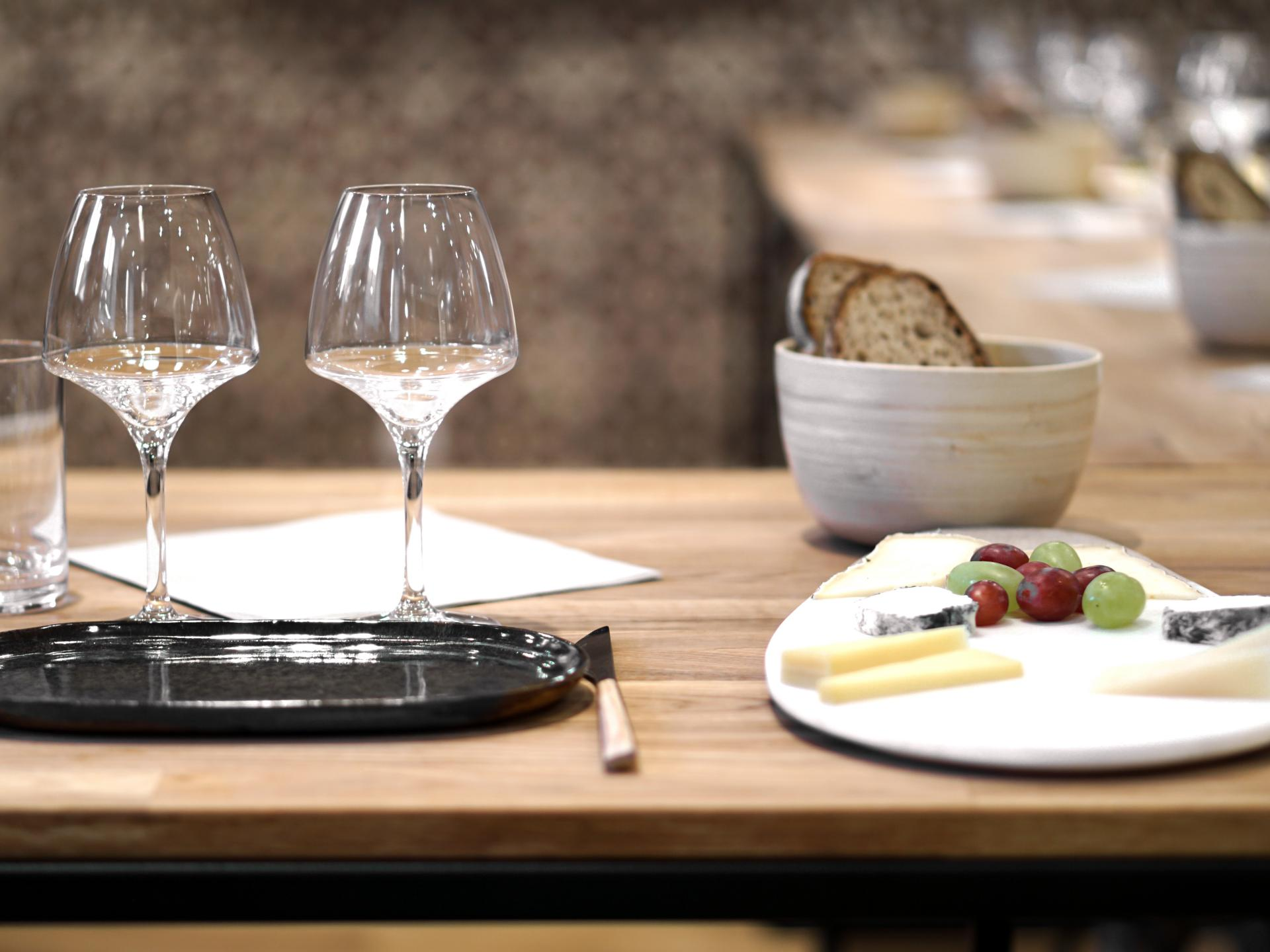 wine and cheese pairing at galeries lafayette