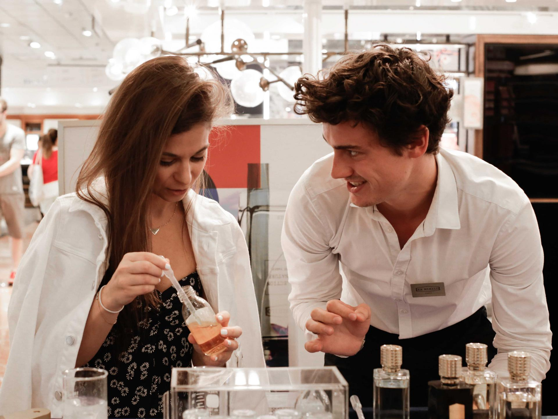 customize your own perfume at galeries lafayette