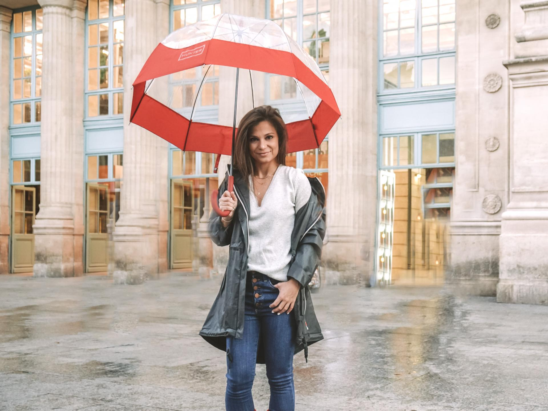 what to wear in paris when it rains