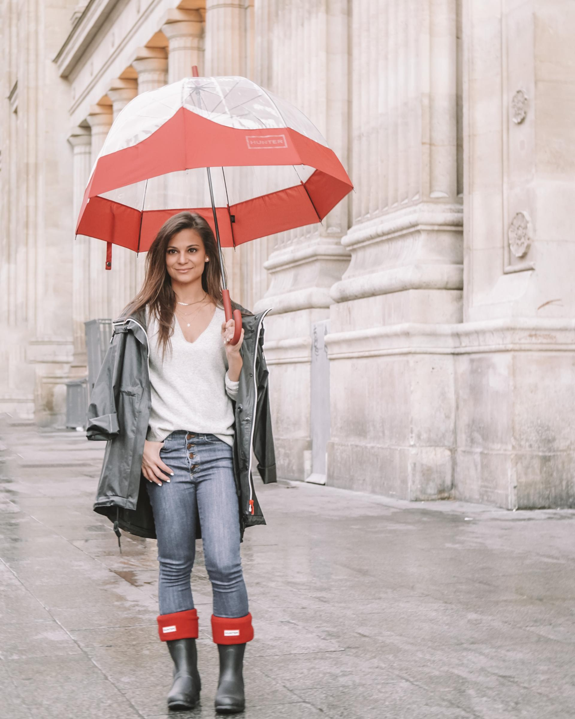what to wear in paris in the rain