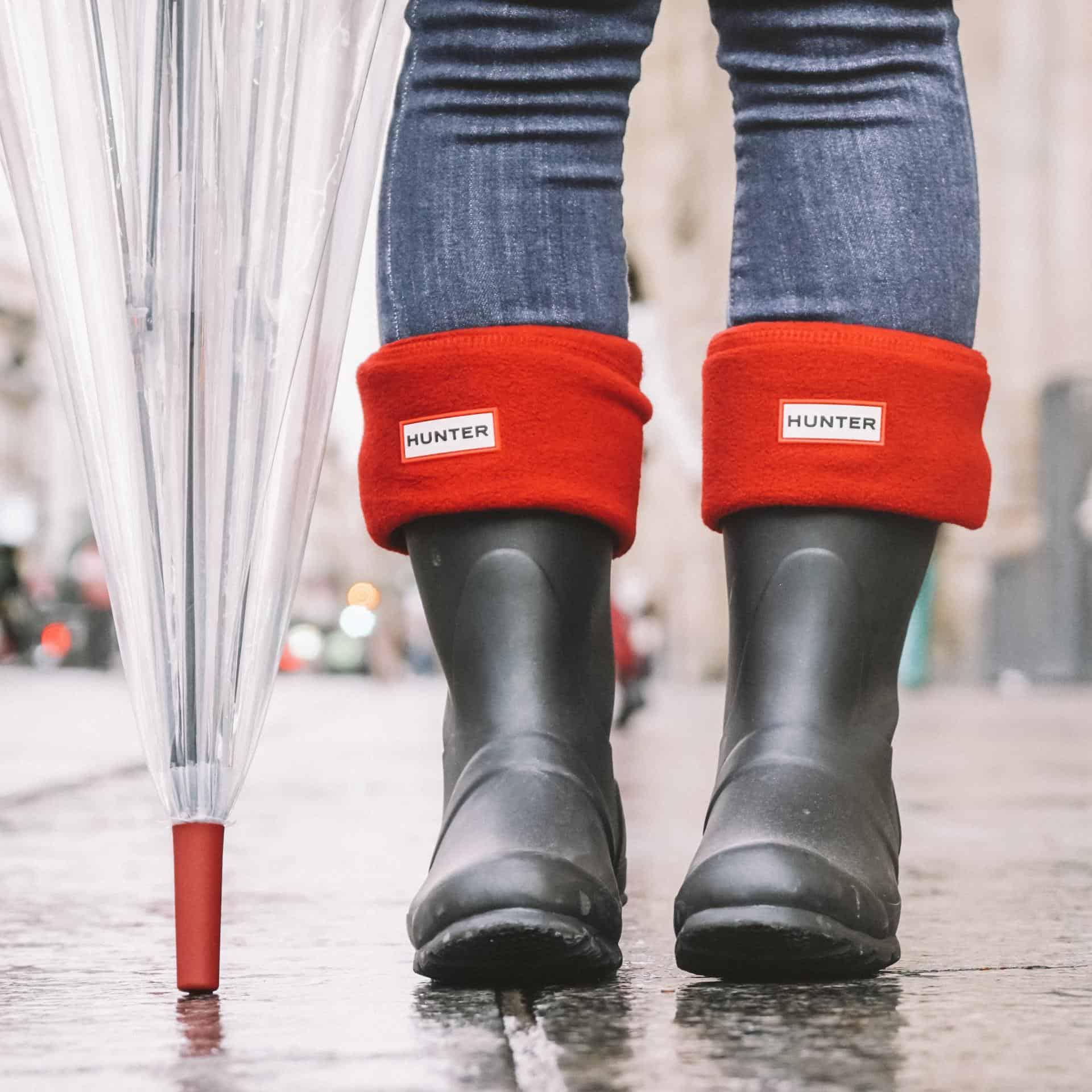 red hunter socks in paris