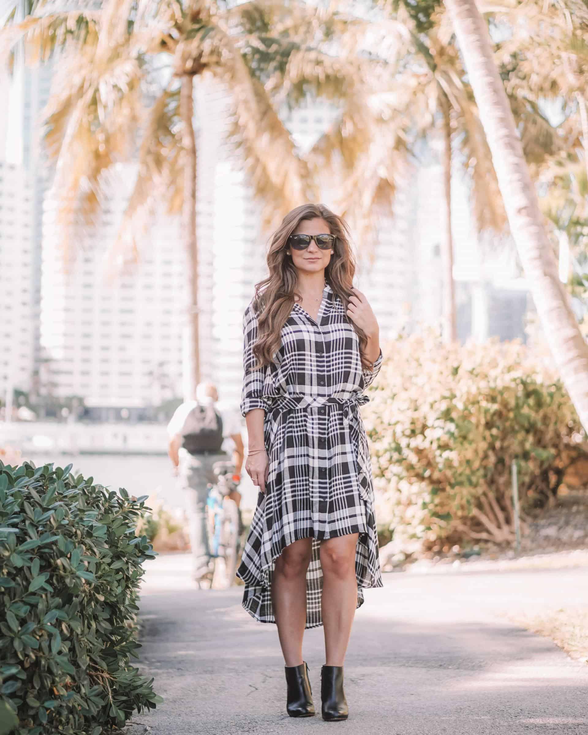 Sparkz checkered dress