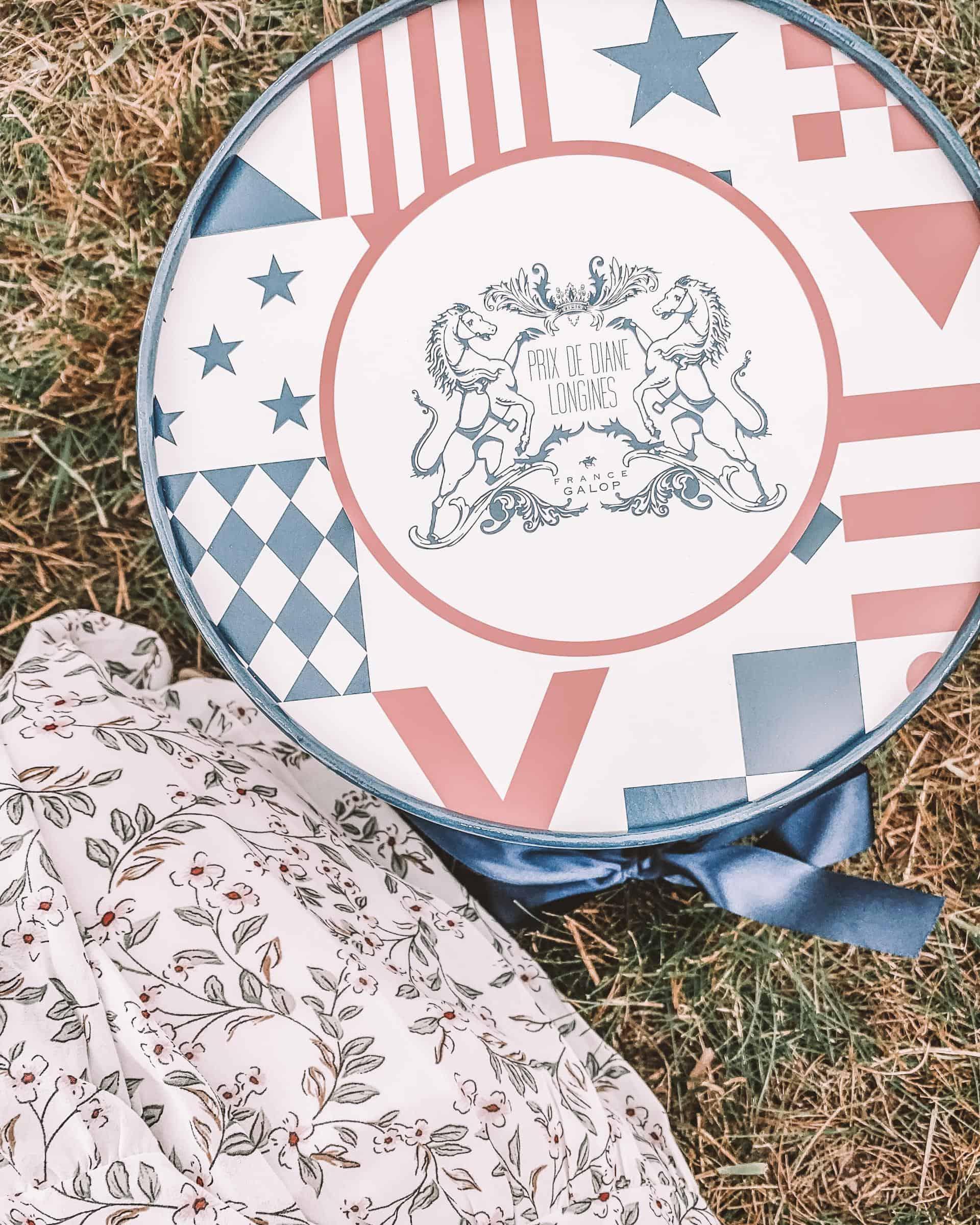 picnic basket at The Prix De Diane Longines