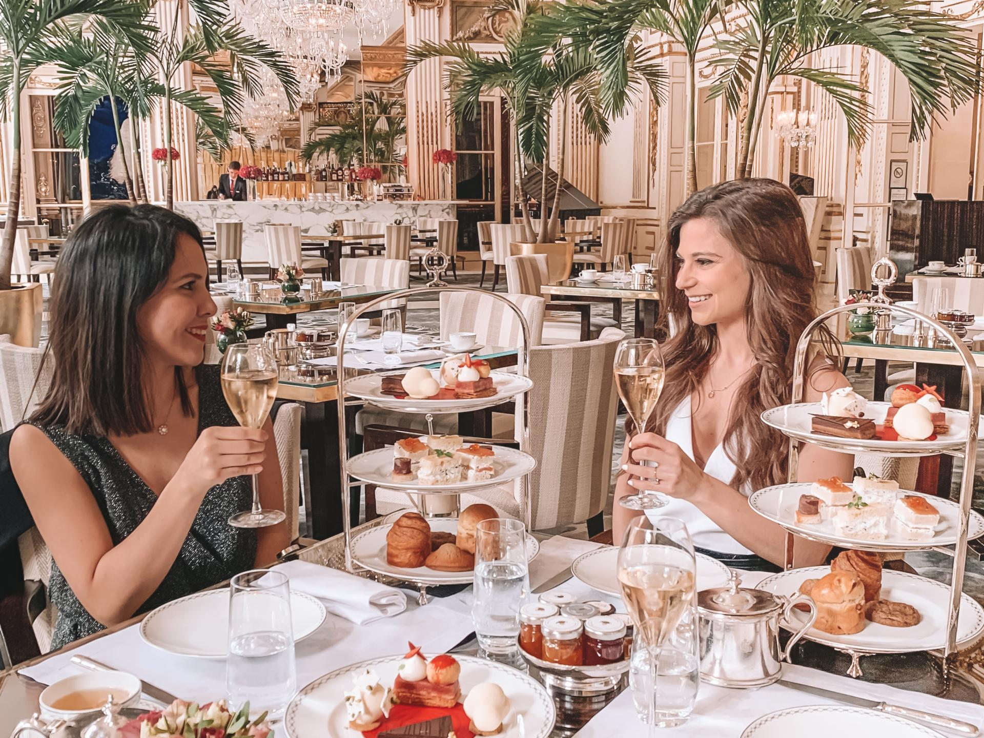 afternoon tea time at the peninsula in paris