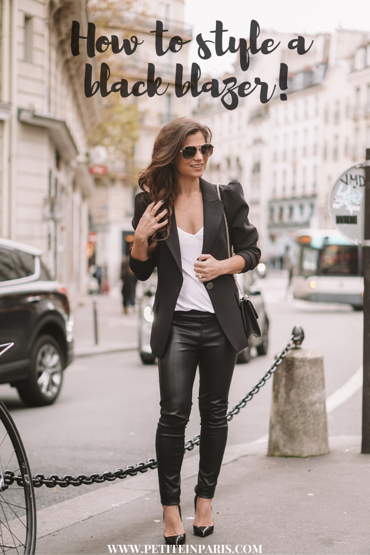 Black Blazer in Paris