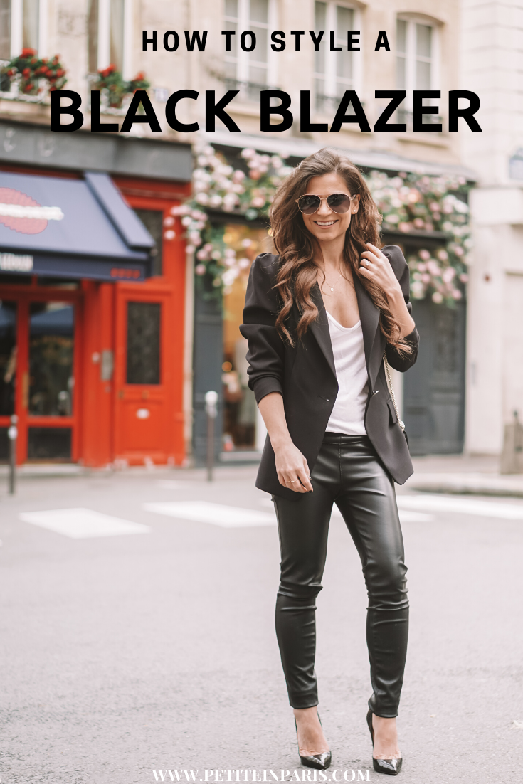 tips for styling a black blazer women