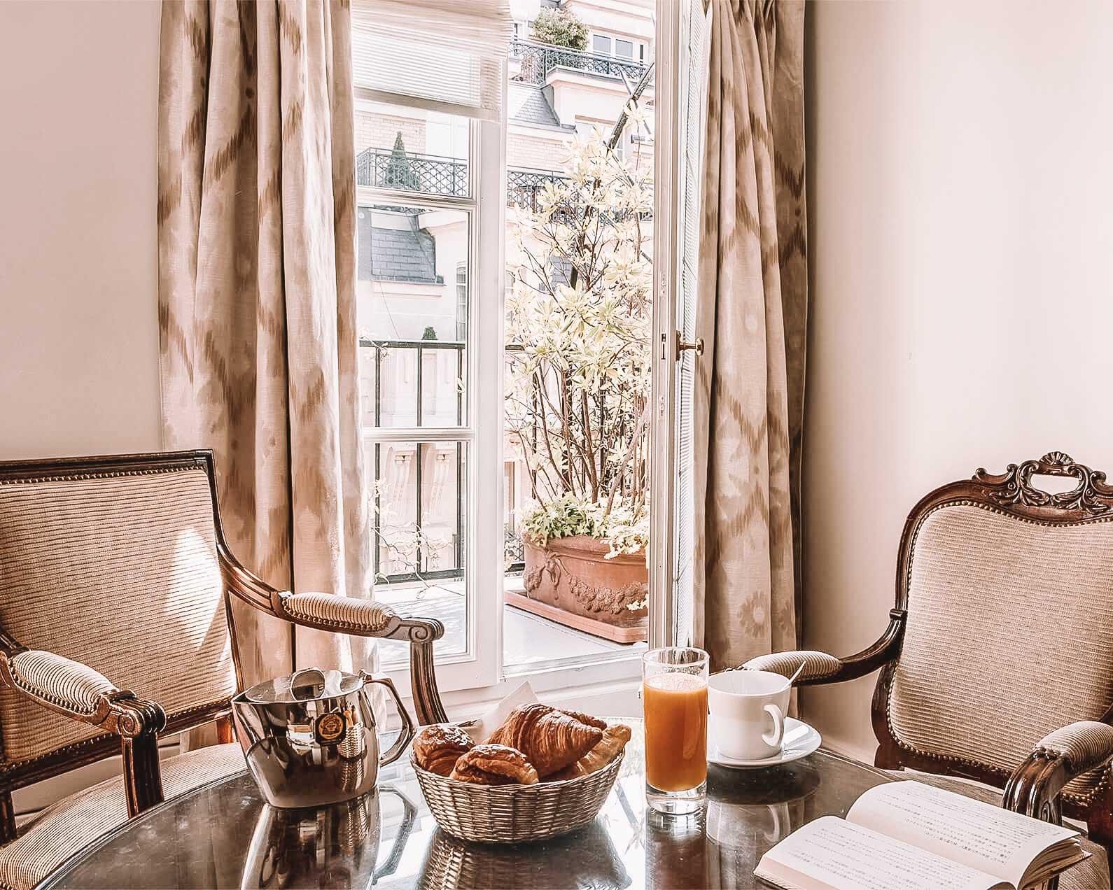 hotel mansart in paris the breakfast