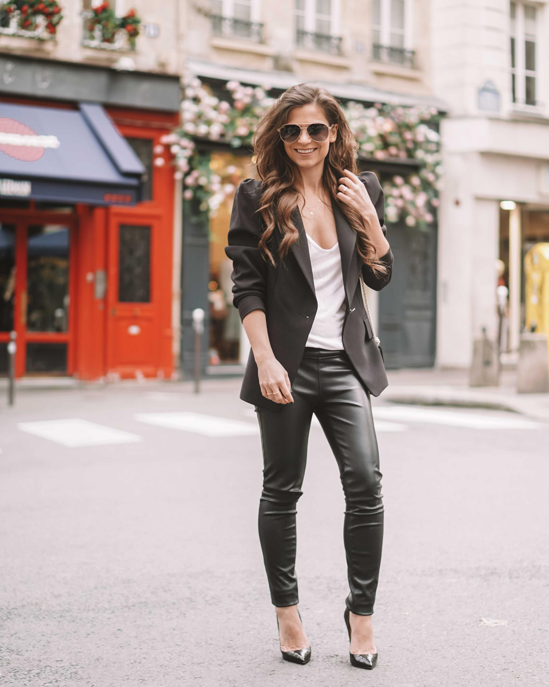 how to wear black pants with a blazer