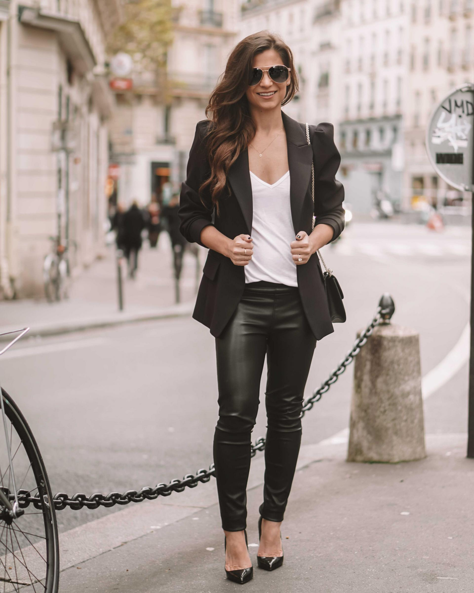 what to wear with a black blazer women