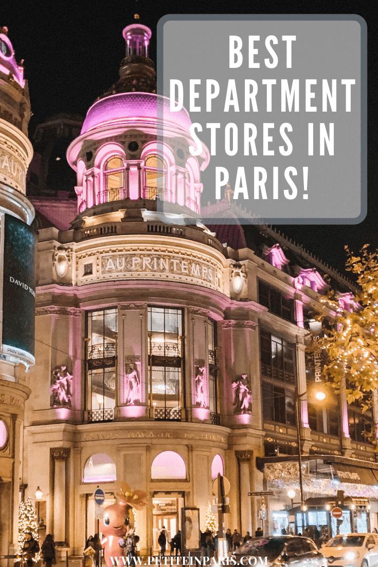 department stores in Paris
