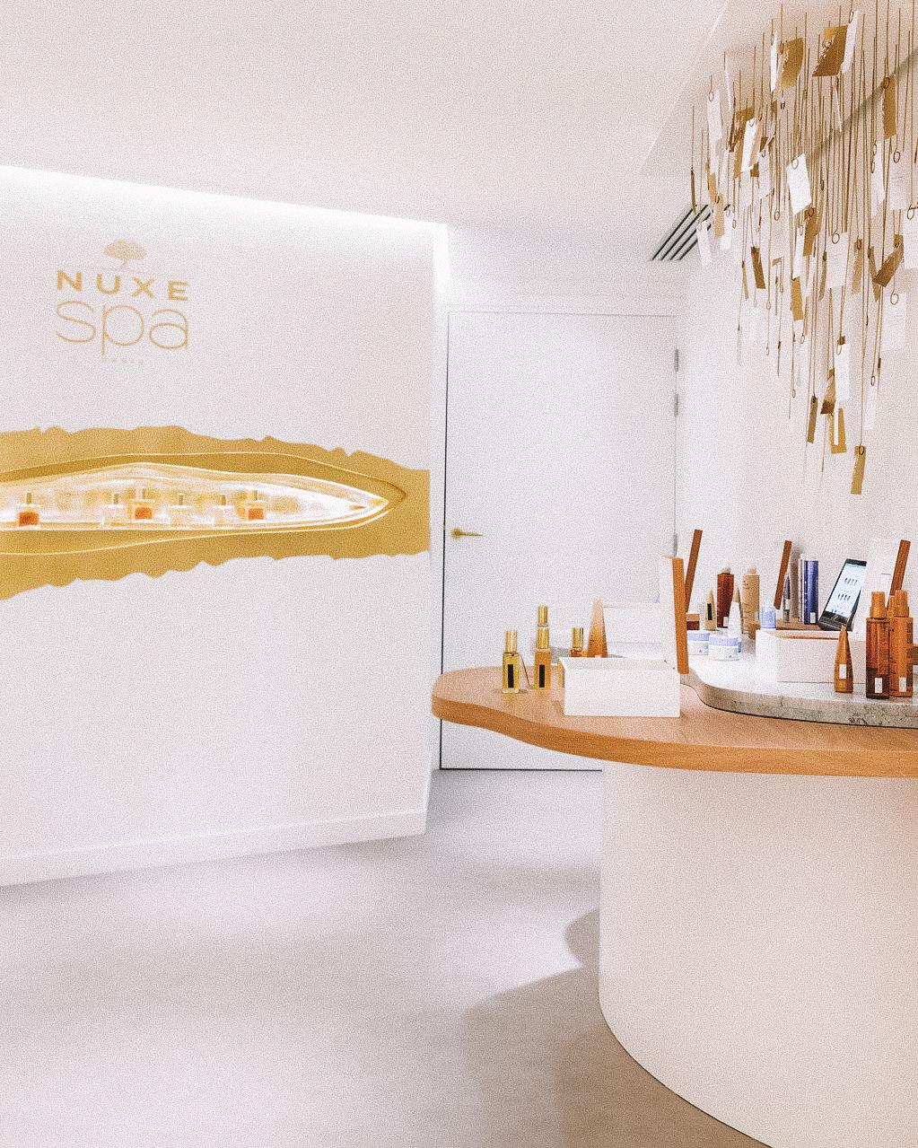 nuxe spa at printemps