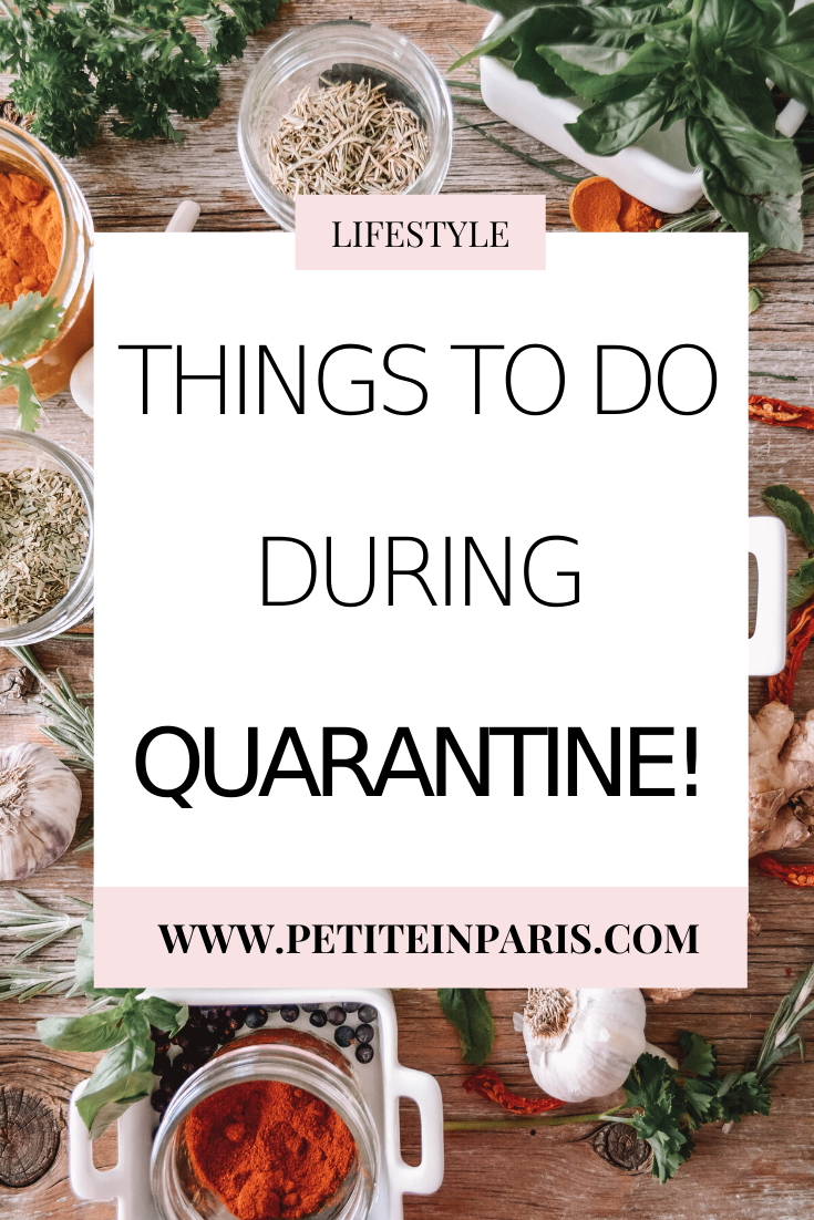 things to do inside during quarantine