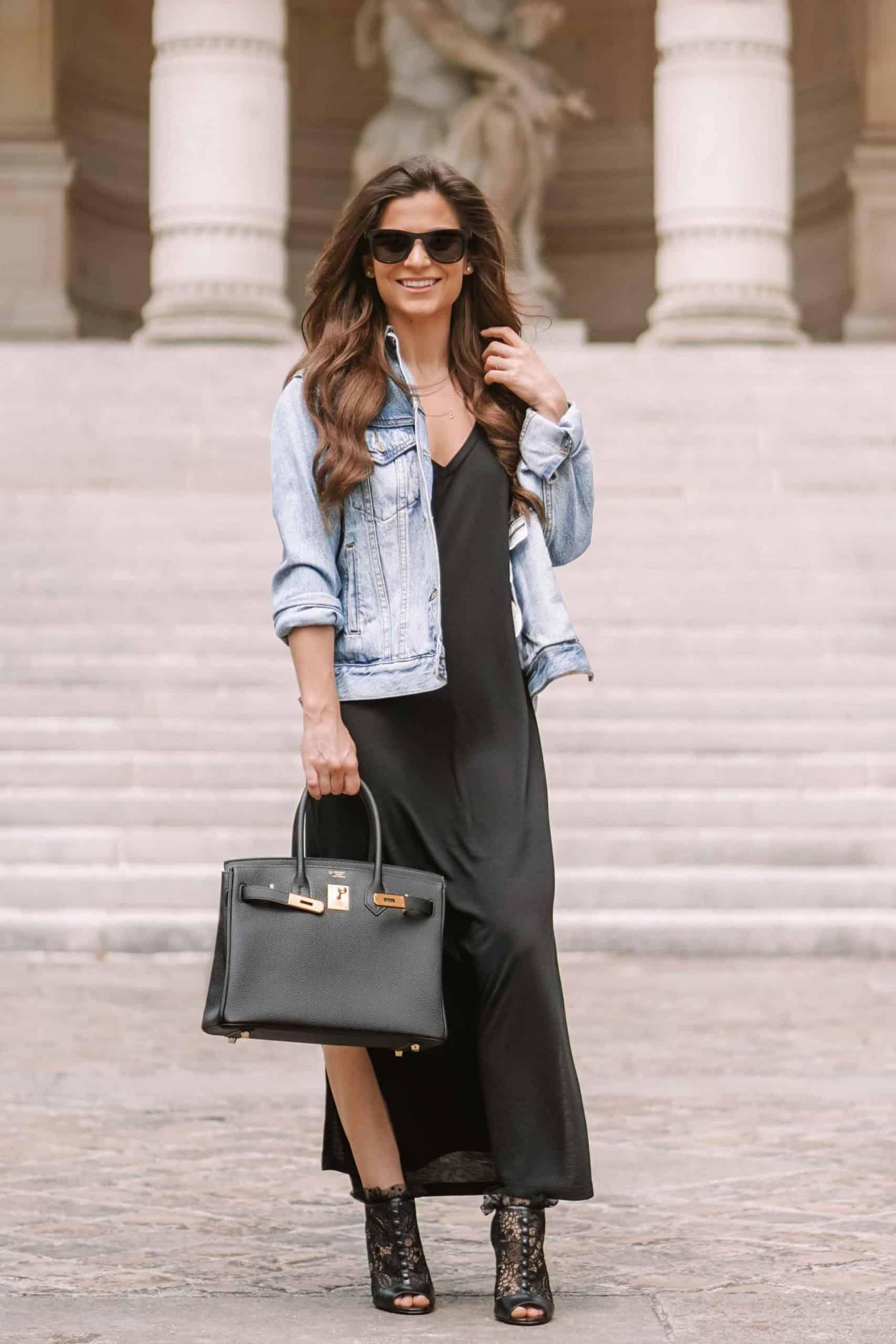 jean jacket blogger