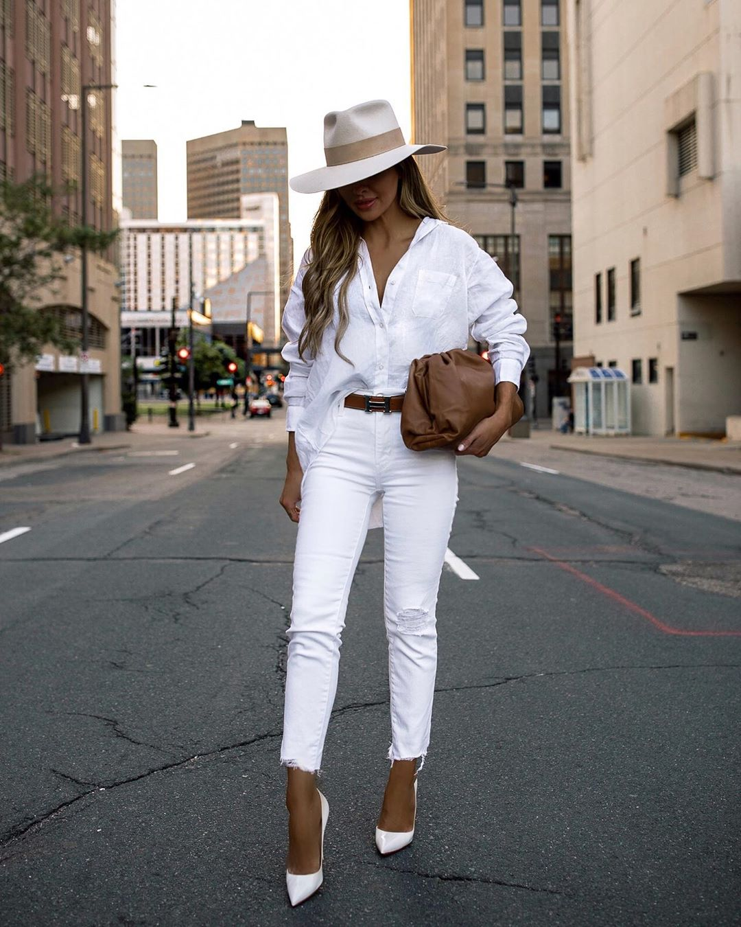 an all white look