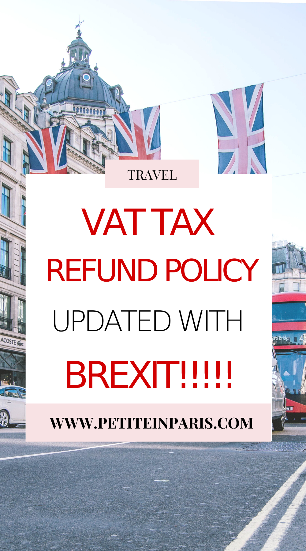 NEW Vat tax refund policy in London