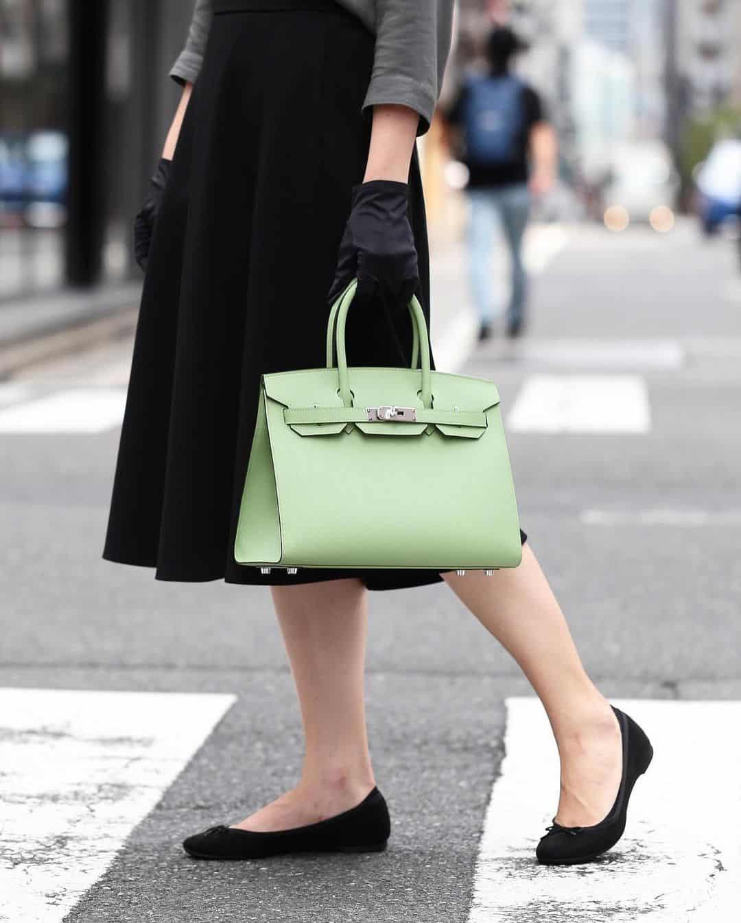 hermes green birkin bag