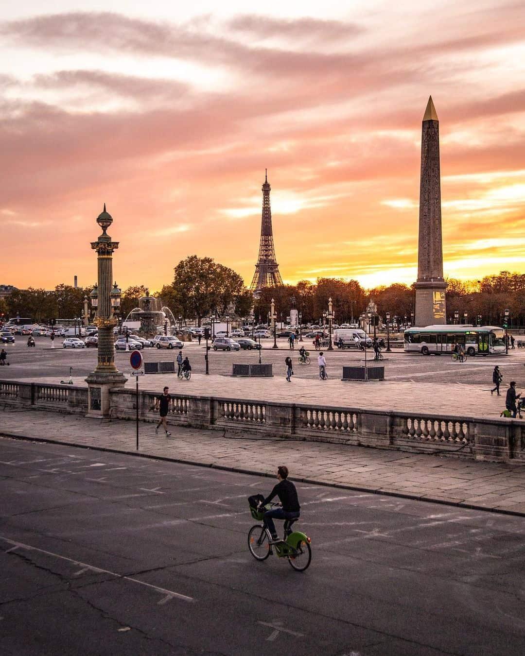 sunset in paris at concord paris blog