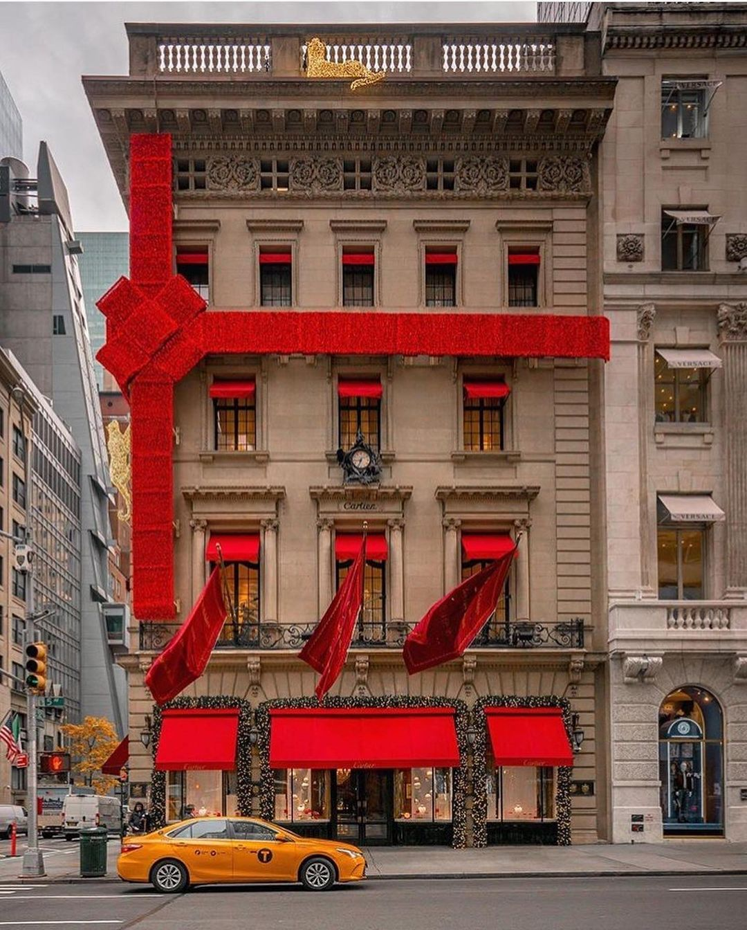 Cartier Store in NYC during Christmas Petite in Paris