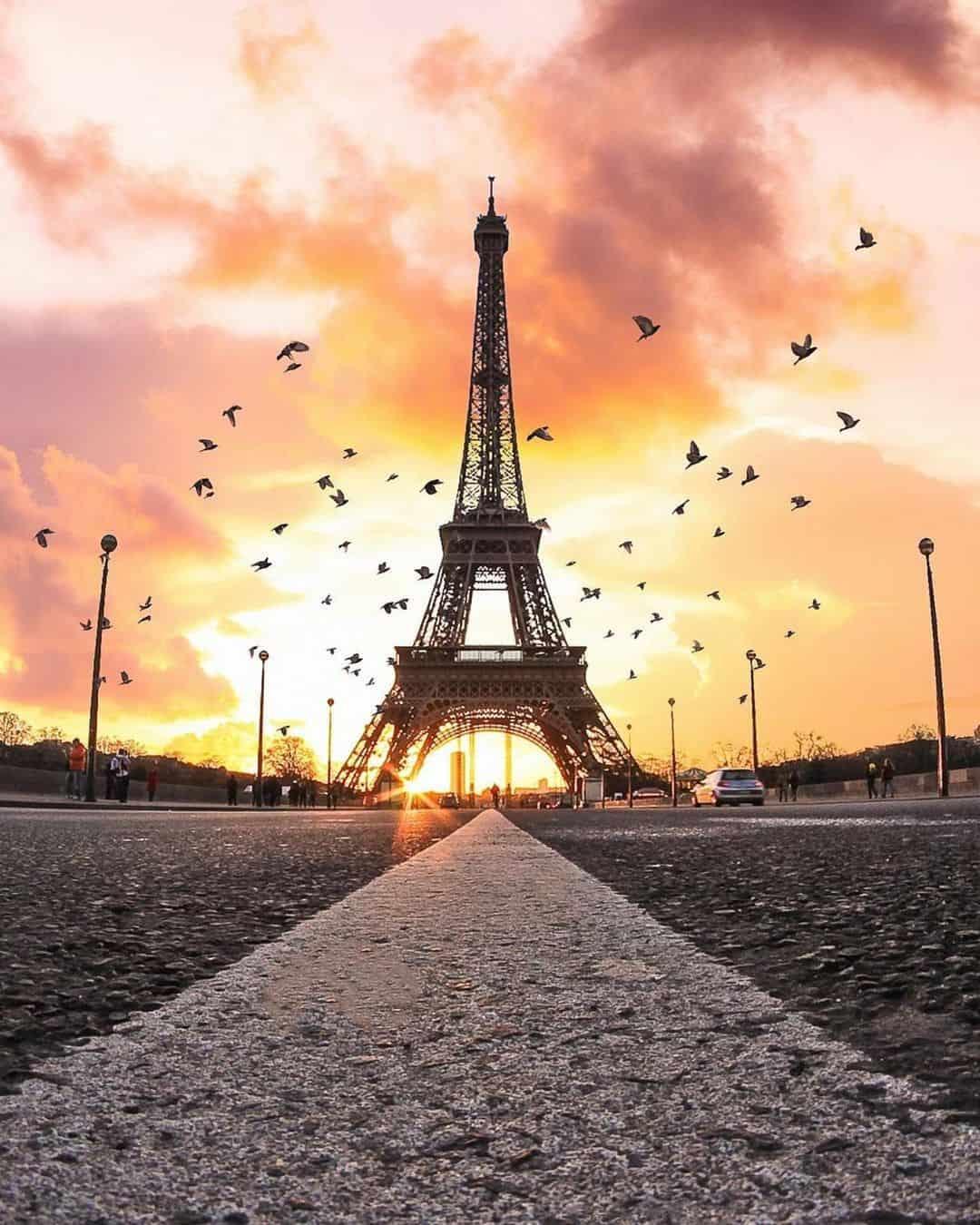 morning sunrise in paris petiteinparis