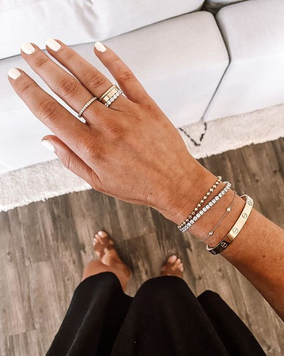 Cartier love bracelet and Cartier Love Ring styled