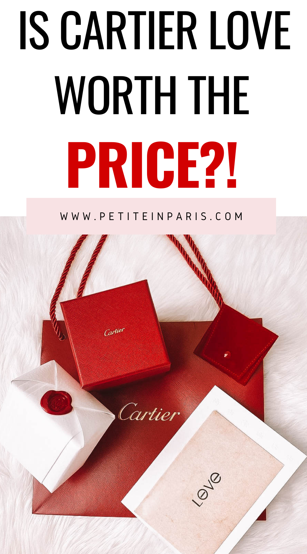 Cartier love ring worth the price cartier love ring bag and box