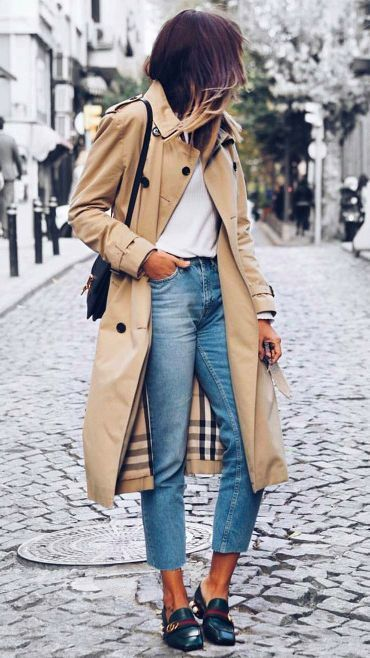 burberry trench coat outfit