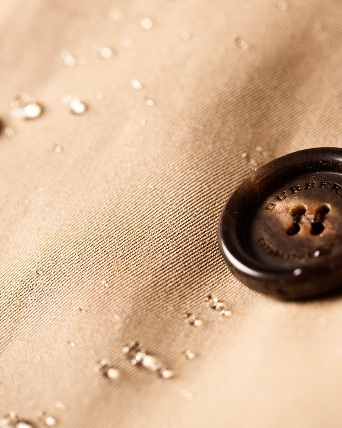 is the burberry trench coat waterproof?