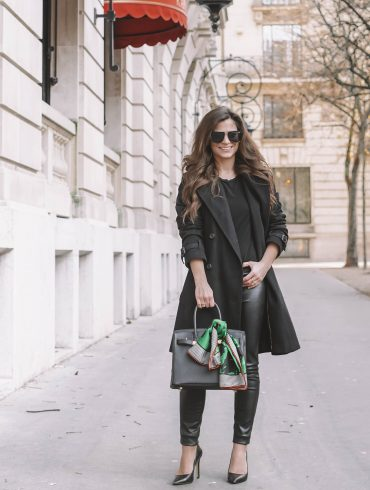 How Parisians Style an all black outfit