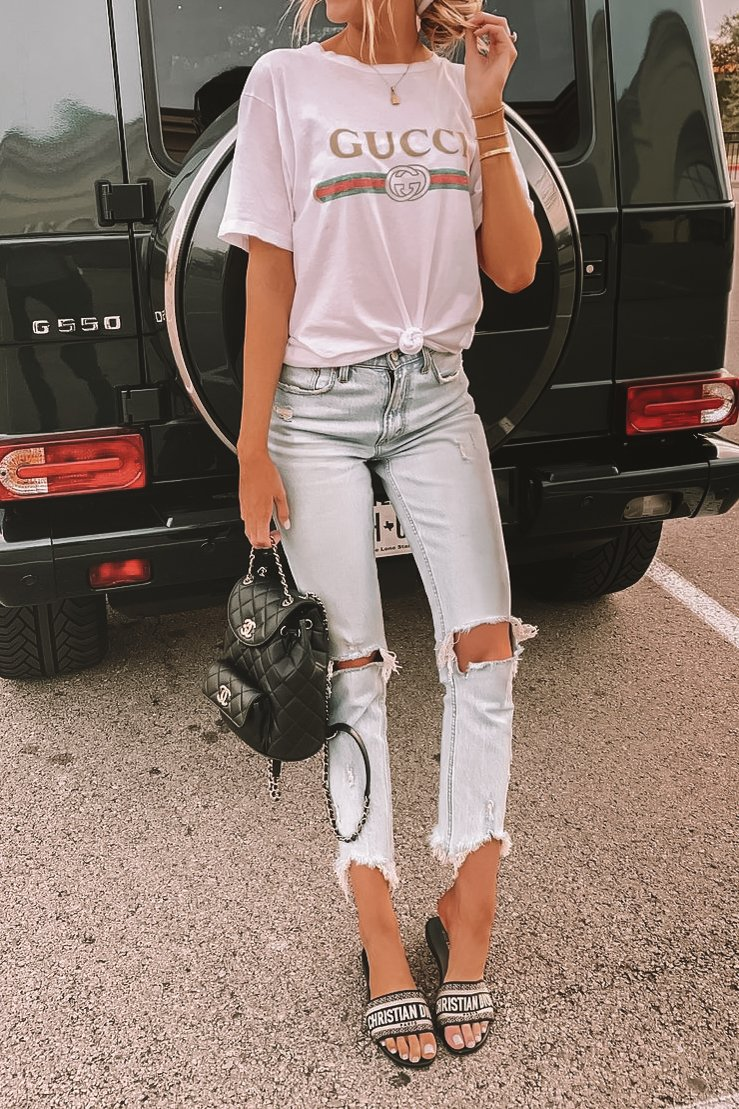 How to style a gucci tshirt