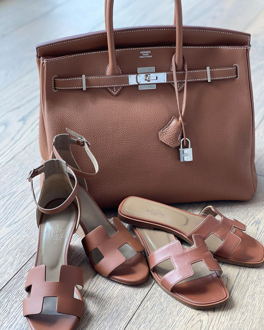 Brown Birkin 35 in Togo leather and silver hardware