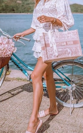Dior Pink Book Tote Bag Styled